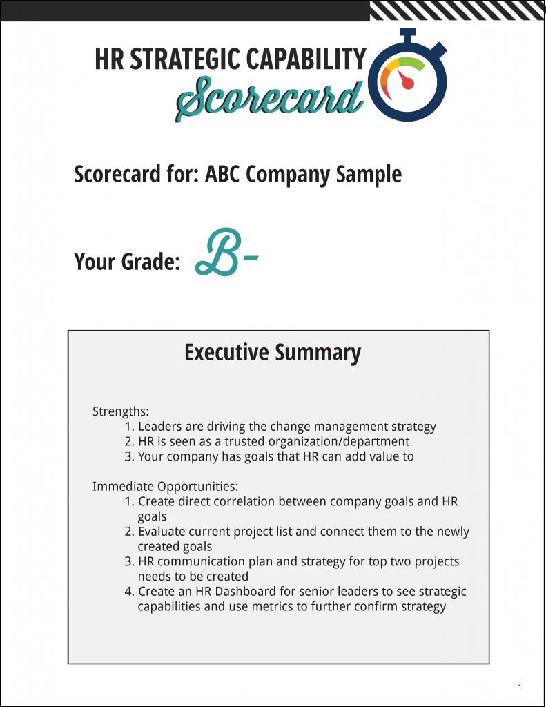 HR Strategic Capability Scorecard